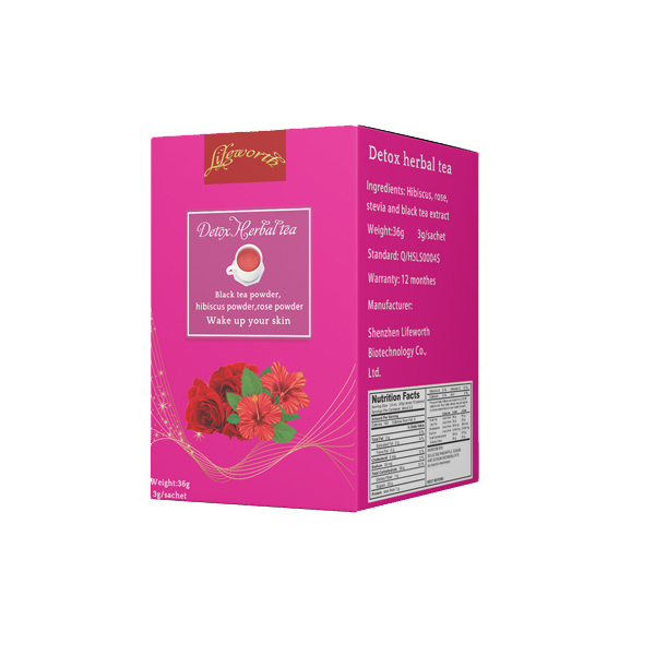 Lifeworth instant beauty detox hibiscus tea private label