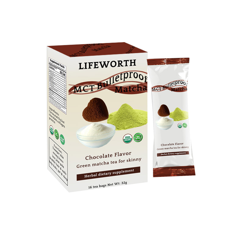 Lifeworth bulletproof matcha tea keto with mct powder